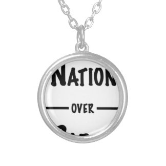 Nation over Party gift collection Silver Plated Necklace