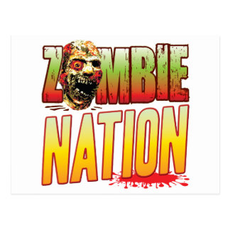 Nation Zombie Head Postcard