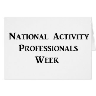 National Activity Professionals Week Card