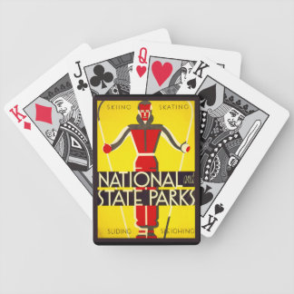 National and state parks, skiing - Dorothy Waugh Bicycle Playing Cards