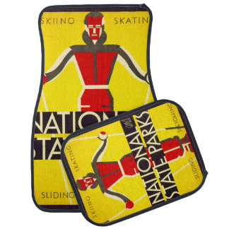 National and state parks, skiing - Dorothy Waugh Car Mat
