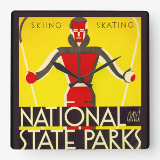 National and state parks, skiing - Dorothy Waugh Clocks