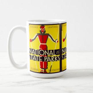 National and state parks, skiing - Dorothy Waugh Coffee Mug