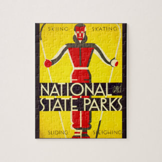 National and state parks, skiing - Dorothy Waugh Jigsaw Puzzle