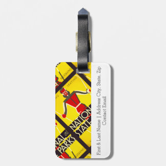 National and state parks, skiing - Dorothy Waugh Luggage Tag