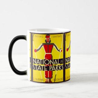 National and state parks, skiing - Dorothy Waugh Magic Mug
