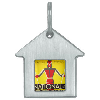 National and state parks, skiing - Dorothy Waugh Pet ID Tag