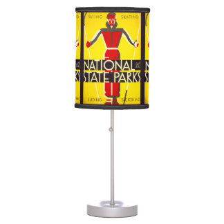 National and state parks, skiing - Dorothy Waugh Table Lamp