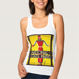 National and state parks, skiing - Dorothy Waugh Tank Top