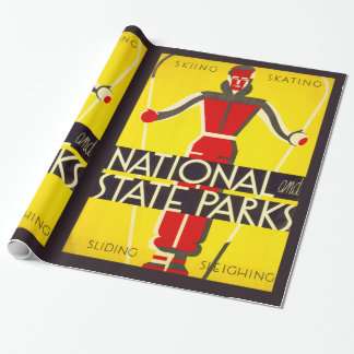 National and state parks, skiing - Dorothy Waugh Wrapping Paper