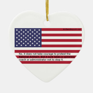 National Anthem Protests Ceramic Heart Ornament