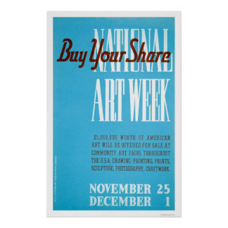 National Art Week 1938 WPA Poster