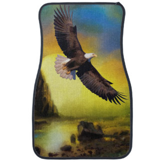 National Bird of America Bald Eagle Soaring Car Mat