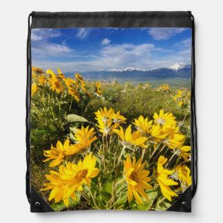National Bison Range Drawstring Bags