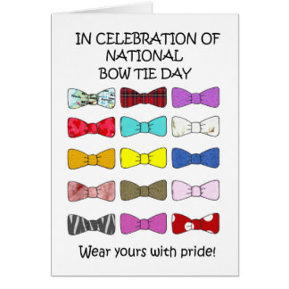 National Bow Tie Day August 28th Card