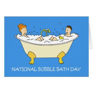 National Bubble Bath Day January 8th Card