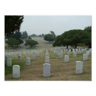 National Cemetary - Point Loma Poster
