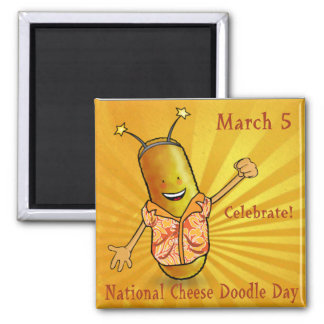 National Cheese Doodle Day Magnet