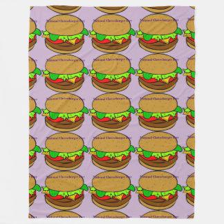 National Cheeseburger Day Custom Fleece Blanket