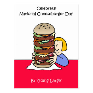 National Cheeseburger Day September 18th Postcard
