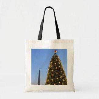 National Christmas Tree and Washington Monument Tote Bag