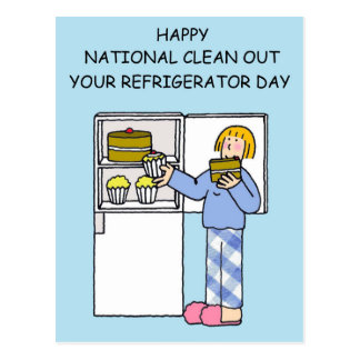 National clean out your refrigerator day. postcard