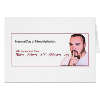 National Day of Silent Meditation Reminder (NDSM3) Card