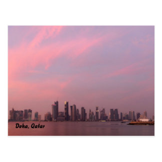 national day sunset a, Doha, Qatar Postcard