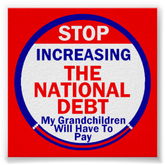 National Debt Poster