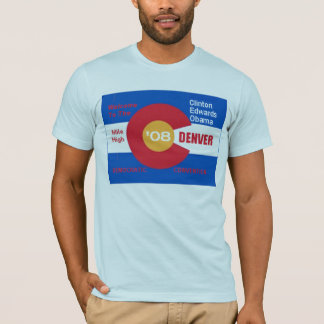 National Democratic Convention Denver Flag T-Shirt