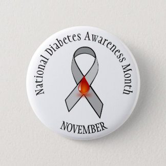 National Diabetes Month November Awareness Button