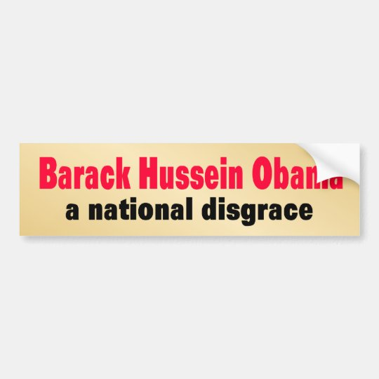 national_disgrace bumper sticker