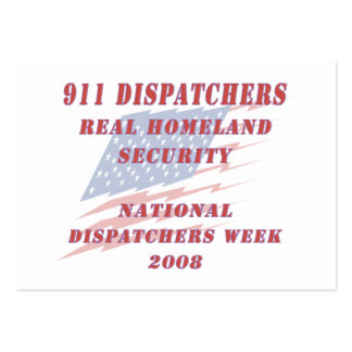 National Dispatchers Week 2008 Large Business Card