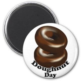 National Doughnut Day 2 Inch Round Magnet