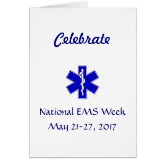 National EMS Week 2017 Card
