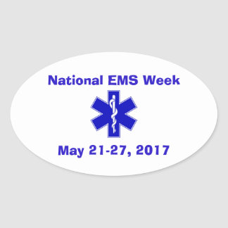 National EMS Week 2017 Oval Sticker