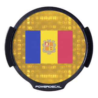 National Flag of Andorra LED Window Decal