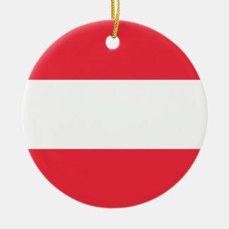 National Flag of Austria Ceramic Ornament