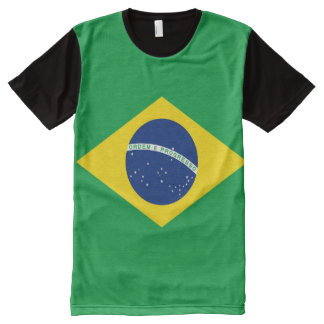 National Flag of Brazil, accurate proportion color All-Over-Print T-Shirt