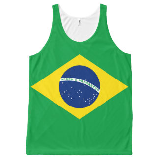 National Flag of Brazil, accurate proportion color All-Over-Print Tank Top