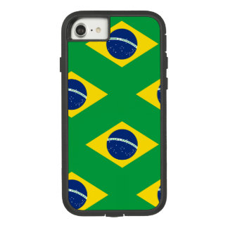 National Flag of Brazil, accurate proportion color Case-Mate Tough Extreme iPhone 8/7 Case