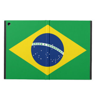 National Flag of Brazil, accurate proportion color Cover For iPad Air