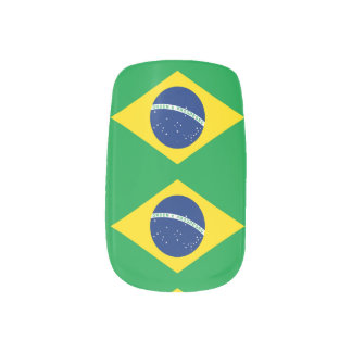 National Flag of Brazil, accurate proportion color Minx Nail Art