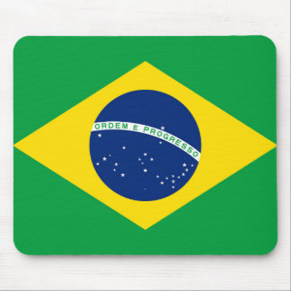 National Flag of Brazil, accurate proportion color Mouse Pad