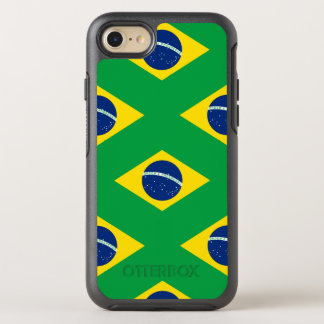 National Flag of Brazil, accurate proportion color OtterBox Symmetry iPhone 8/7 Case