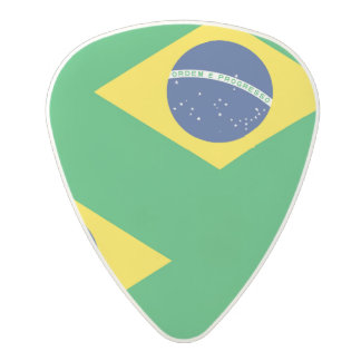 National Flag of Brazil, accurate proportion color Polycarbonate Guitar Pick