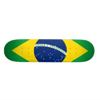 National Flag of Brazil, accurate proportion color Skate Deck