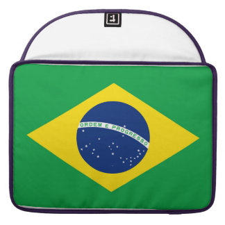 National Flag of Brazil, accurate proportion color Sleeve For MacBook Pro