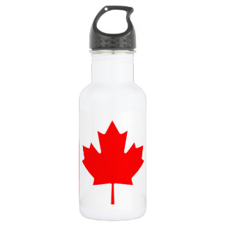 National Flag of Canada, maple leaf, high detailed 532 Ml Water Bottle