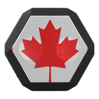 National Flag of Canada, maple leaf, high detailed Black Bluetooth Speaker